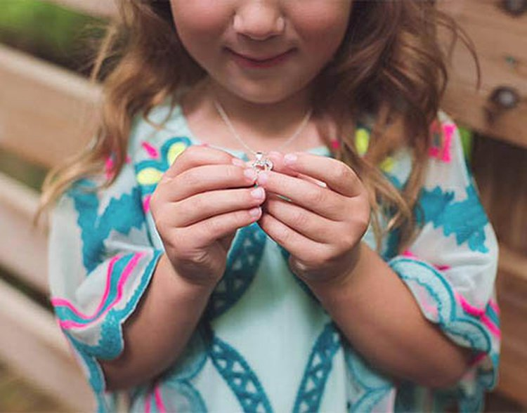 5-Year-Old Gets a Heart Necklace Moments After Her Mom Gets a Diamond Engagement Ring