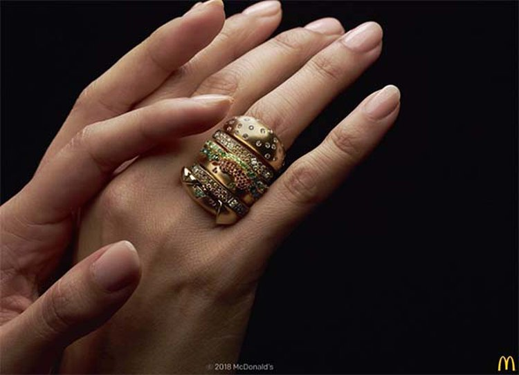 McDonald's Celebrates Big Mac's 50th and Valentine's Day With a 'Bling Mac Ring' Contest