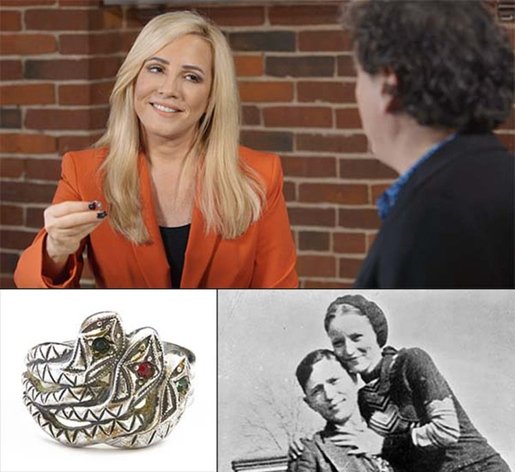 Bonnie Parker's Bejeweled Snake Ring Is Subject of Monday's Episode of 'Strange Inheritance' on FBN