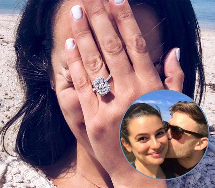 Lea Michele Shows Off 4-Carat Radiant-Cut Diamond Engagement Ring on Instagram