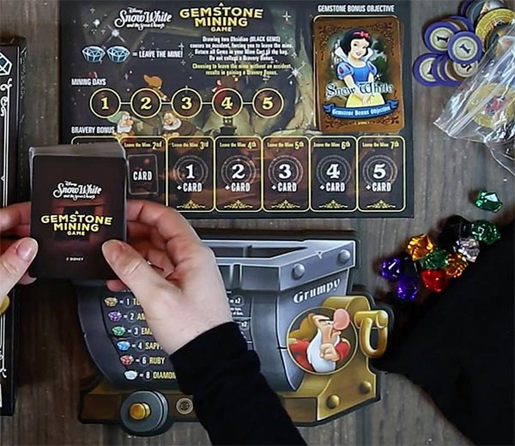 Gemstones Star in New Board Game Featuring Snow White and the Seven Dwarfs