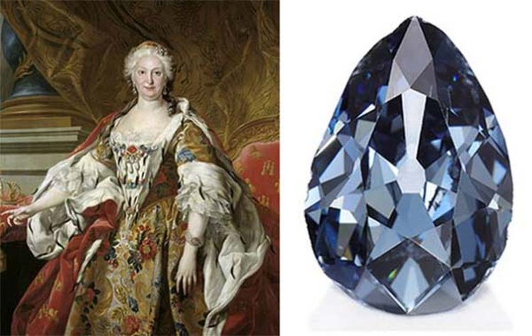 Blue Diamond Owned 300 Years Ago by the Queen of Spain Fetches $6.7MM at Sotheby's Geneva